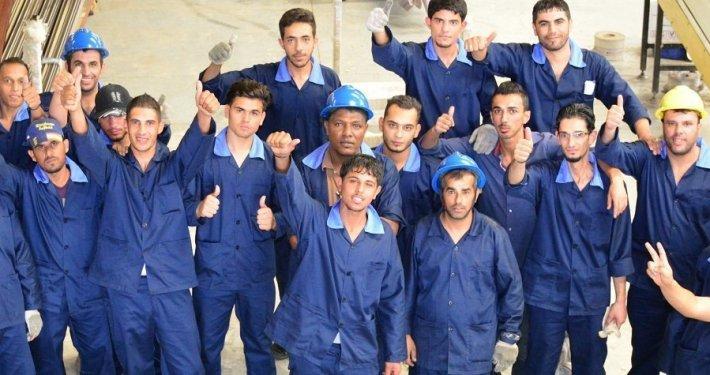 """عميل لدى شركة """"جروفن"""" الأردن - شركة """"أرابيلا"""" لسحب الألمنيوم - تقديم الدعم للاجئين السوريين"""